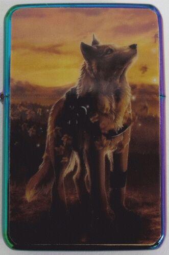 Wolf Design Star Lighter In Gift Tin