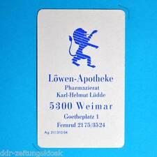 DDR Taschenkalender 1985 | Weimar Löwen-Apotheke