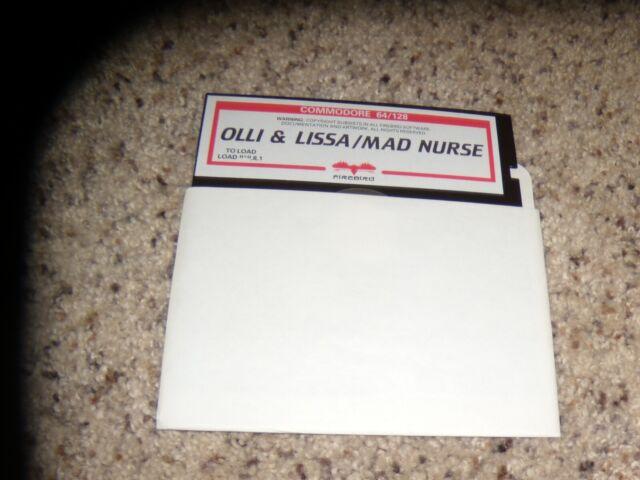 "Olli & Lissa/Mad Nurse Commodore 64 C64 Game 5.25"" disk"