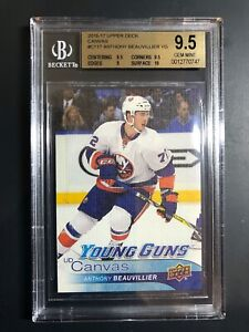 2016-17 Anthony Beauvillier Young Guns Canvas Rookie BGS 9.5