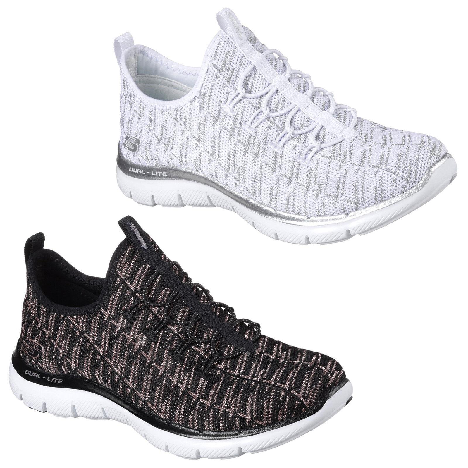 Skechers Flex Appeal 2.0 Insights Trainers Womens Memory Foam Sports Knit shoes