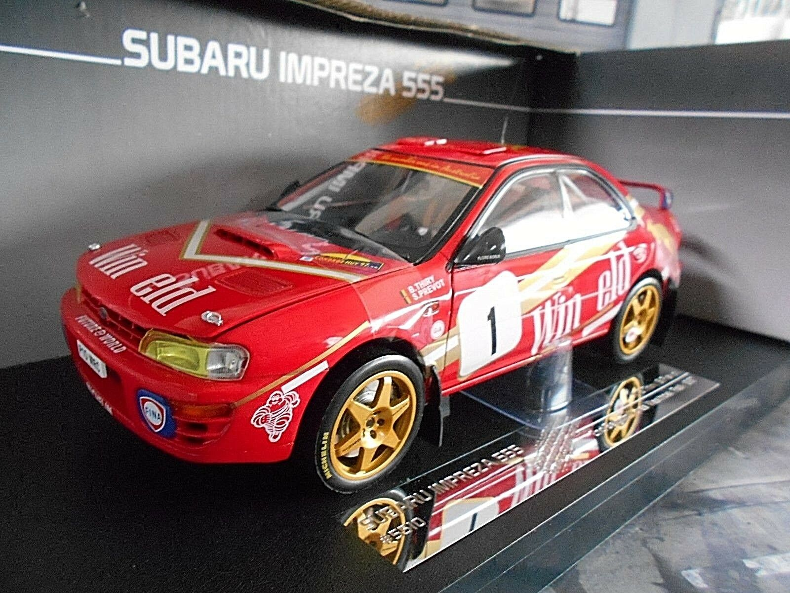 SUBARU IMPREZA WRC RALLYE  1 Thiry PREVOT Winfield Vimy Ypres 97 Sunstar 1 18