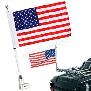 Motorcycle-American-Flag-Flagpole-Luggage-Rack-Mount-For-Honda-Harley
