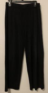 Exclusively Misook Size S Pull On Black Pants Dress Knit Slacks Elastic Waist