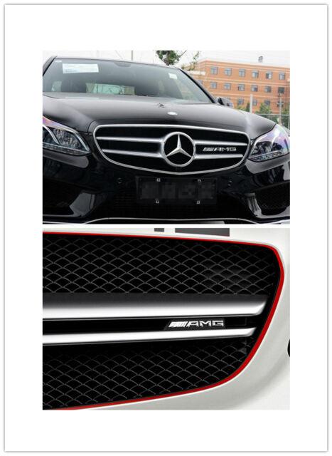 NEW AMG Front Grill Badge LOGO Emblem for Mercedes Benz A C E CLA GLA GLC GLE