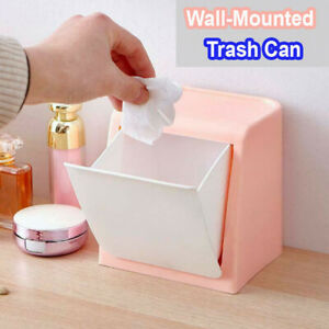 Details About Kitchen Bedroom Wall Mounted Trash Can Hotel Bathroom Rubbish Bin