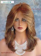 Mackenzie Lace Front Part Designer Wig NIB ELEGANT SHARP STYLE *CARAMEL KISS