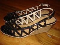 Bijou York Black Patent Heels Shoes Womens Size 9 1/2 M 9.5 Medium