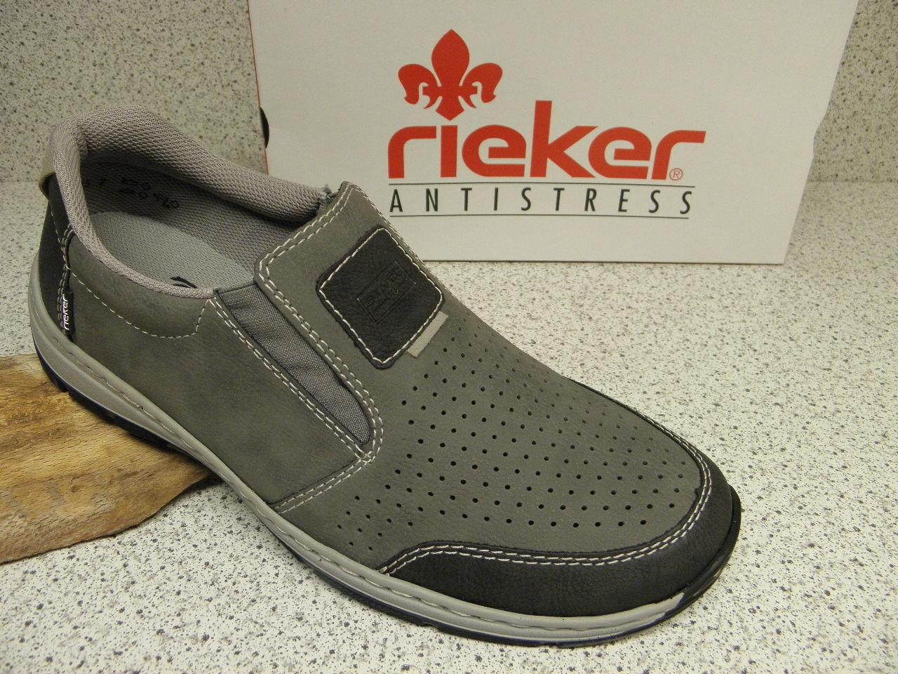 rieker ® SALE,  grau, Top Preis + gratis Premium - Socken 15265-46 (R258)