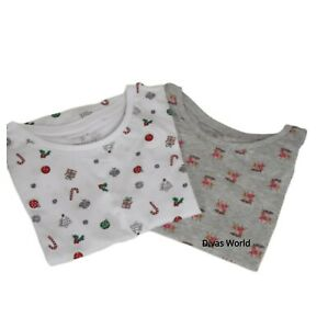Christmas-Women-039-s-T-shirt-Top-Vest-Ladies-Print-Xmas-Festive-Novelty-Primark