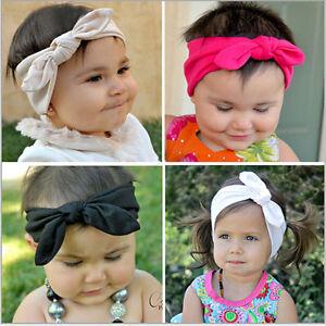 Intelligent 1-3yrs Silk Head Wrap Filles Kid Baby Bow Hairband Bandeau Turban Collection-afficher Le Titre D'origine Rendre Les Choses Commodes Pour Le Peuple