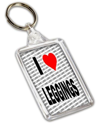 Christmas I Love Leggings Keyring Gift Stocking Filler Birthday