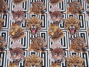 Substances Coton Panama Liaison Digital Pression Deco Tissu Rideau Leopard Nº 7-afficher Le Titre D'origine RafraîChissant Et BéNéFique Pour Les Yeux