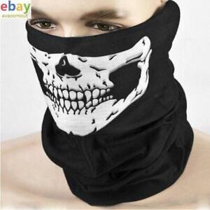 Skull Face Mask Neck Tube Scarf Snood Balaclava Bandana Ski Cycle Biker Snood UK