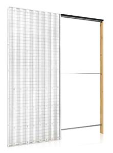 Controtelaio a scomparsa per porta scorrevole interno muro - Misure controtelaio per porta da 80 ...