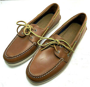 Sperry-Top-Sider-Mens-2-Eye-Tan-Original-Boat-Shoes-0532002-12-M-Rawhide-Laces