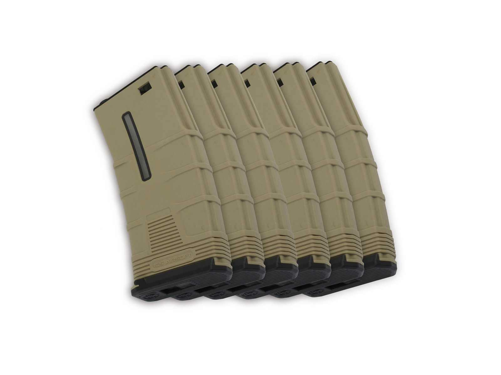 ICS Airsoft T Magazine Box Set 45rd FDE M-Series Low-Cap 45rd  MA-246