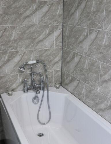diy materials cutline grey marble tile effect bathroom
