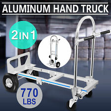 770lbs Aluminum Hand Truck 2in1 Convertible Folding Dolly Cart Stair Climber