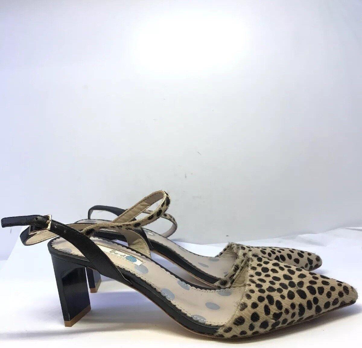 Boden Damenschuhe Pointed Strap Heels Leopard Printed Detail Größe EU 38.5