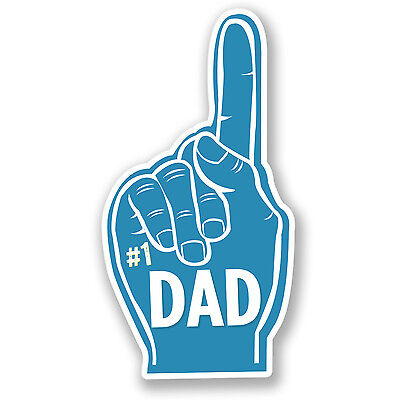 2 x Number 1 Dad Vinyl Sticker Father/'s Day Gift iPad Laptop Decal Finger #4392