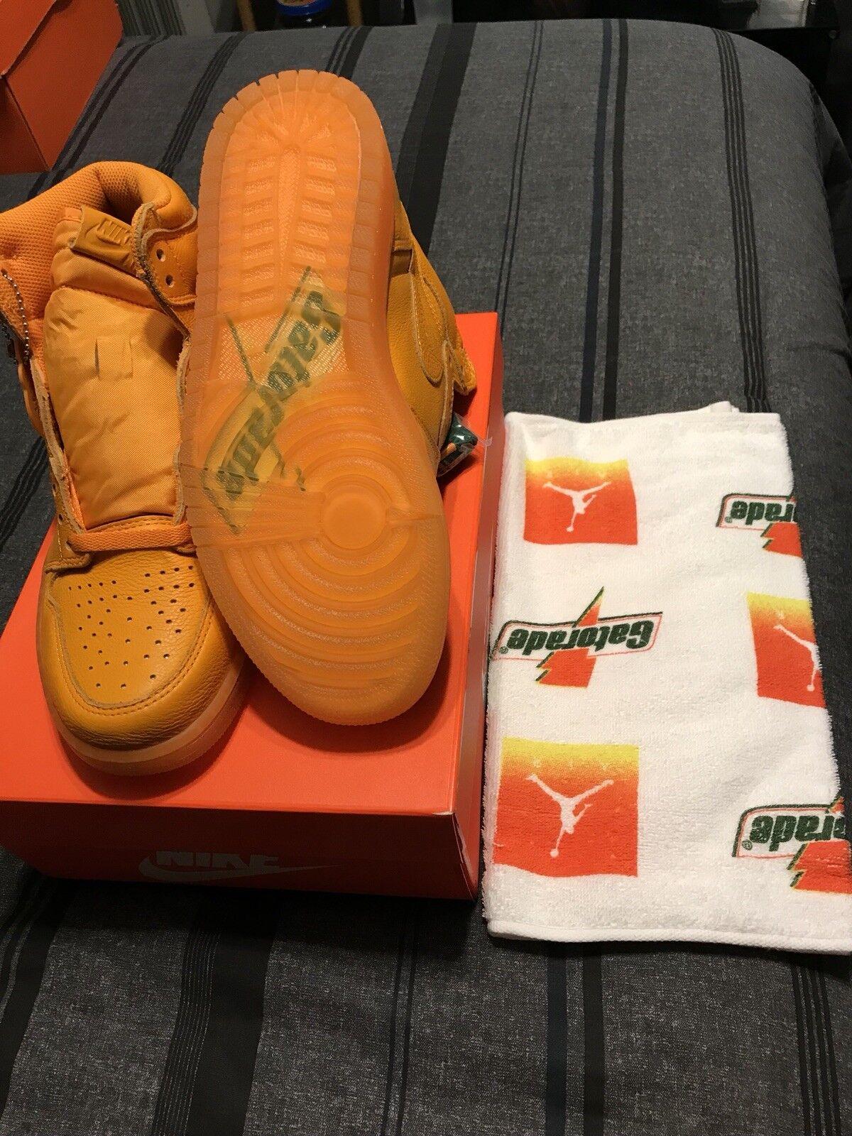 New Nike Air Jordan 1 Gatorade Orange Size 8.5