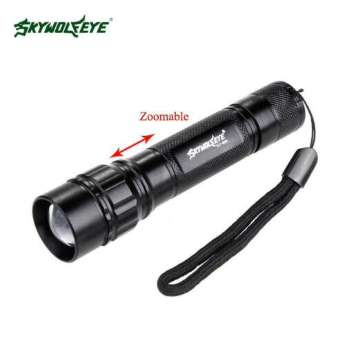 50000LM Tactical 3-Modes Q5 LED 18650 Flashlight Zoom Light Aluminum Torch RP