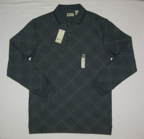 Haggar Clothing Men's Long Sleeve Polo, Thunderstorm Marl, Small, NWT
