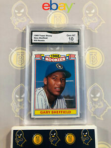 1989-Topps-Glossy-Gary-Sheffield-20-Rookie-10-GEM-MINT-GMA-Graded-Baseball-Card