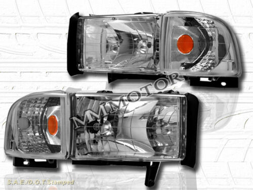 94-01 DODGE RAM HEADLIGHTS CLEAR CORNER LIGHTS 00 99