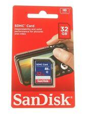 SANDISK 32GB SCHEDA DI MEMORIA SD HC Scheda SD ORIGINALE NUOVO per fotocamere