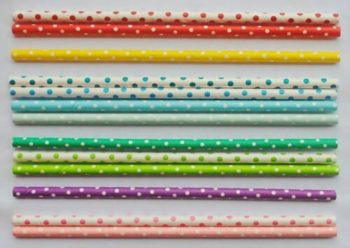 Paper drinking straws 25pcs//pack biodegradable eco-friendly for party,wedding..