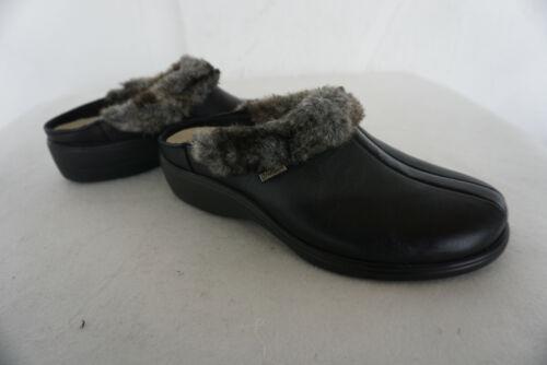 Schwarz Bock Clog 37 Hausschuh Neu H Schuhe Gr Leder