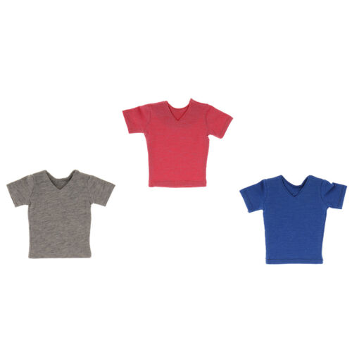 """1//6 Scale Short Sleeve T-shirt For 12/"""" Hot Toys Dragon BBI Male Figure Doll"""