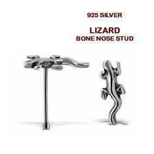 1 x Silver Lizard Gecko Nose Stud Ball Very Cute Dainty.Unusual beautiful You