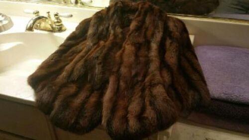 Style Mink Brown 1950s Stole Dark Jacket Bolero Y8xnZ