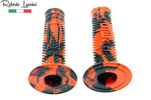 Poignées Domino Snake-Orange-Noir MOTOCROSS ENDURO KTM SX SXF EXC