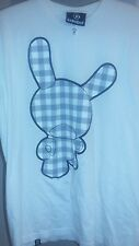 Used KIDROBOT White/Grey Plaid DUNNY Design Men's T-Shirt SZ M HTF 2010