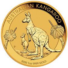 2020-P $100 1oz Australian Gold Kangaroo .9999 Fine BU - Perth Mint