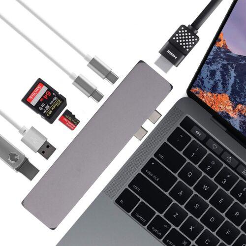 Premium 7 in 1 Multi Port Dongle Hub Compatible 2018//2017//2016 MacBook Pro Air