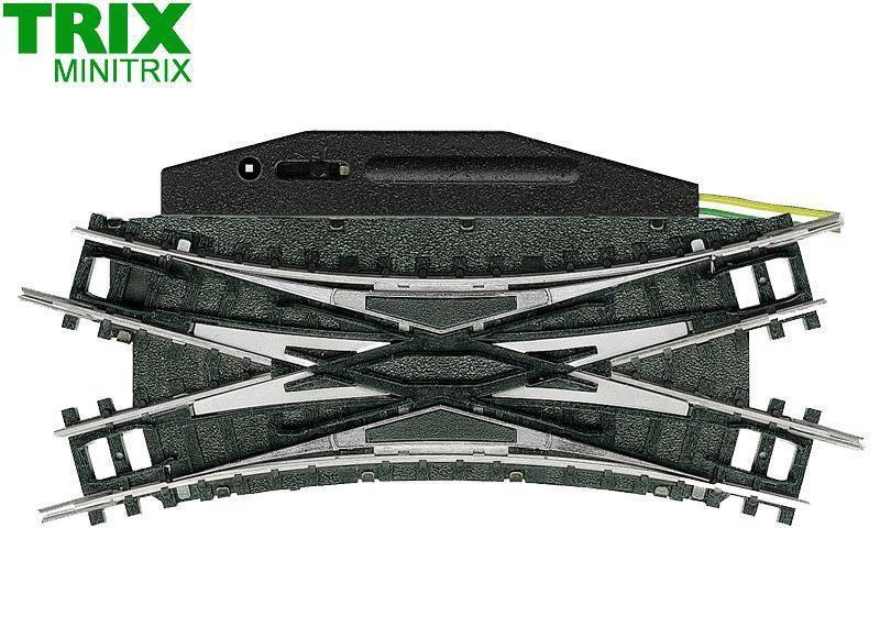 Minitrix   Trix N 14968 Eléctrico Suave Doble Cruce 30° - Nuevo + Emb.orig