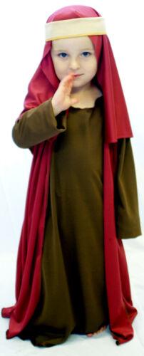 Natale natività-Recita Scolastica-Marrone Burg Shepherd Vestito Tutte Le Età