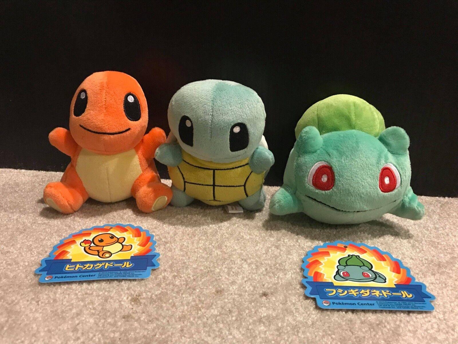 Bulbasaur, Charmander, Squirtle Japanese Pokemon Pokedoll Plush Spielzeug