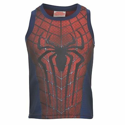 Boys ~ Spiderman ~ T-Shirt/Vest Top ~ Sizes 2 To 8 Years