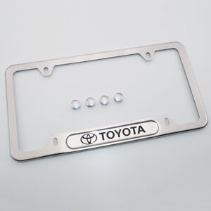 For-Toyota-Brand-New-License-Frame-Plate-Cover-Stainless-Steel-Chrome