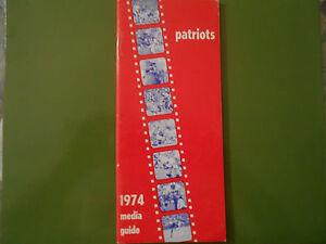 1974 NEW ENGLAND PATRIOTS MEDIA GUIDE Yearbook Program NFL Football NE Book AD