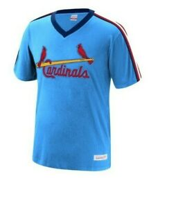 Mitchell-amp-Ness-St-Louis-Cardinals-Cotton-Baseball-Jersey-New-Mens-MSRP-50