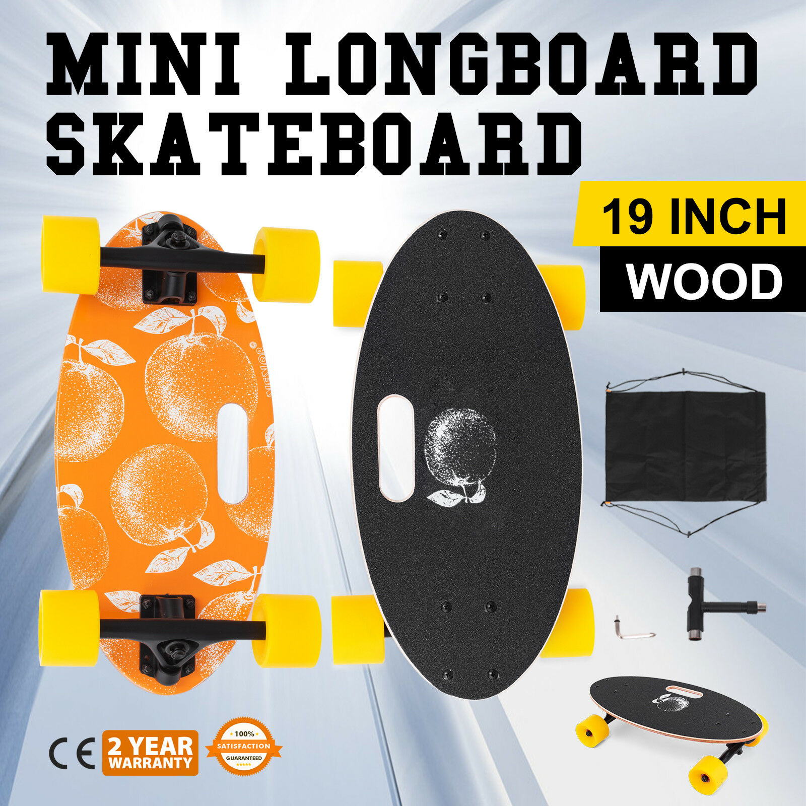 Mini 19   Longboard S board Cruiser S board Aluminum-alloy Smallest orange  most preferential