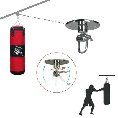 Martial Arts Sparring Punching Ball Speed Bag Swivel Base Hook Hanging Sandbags