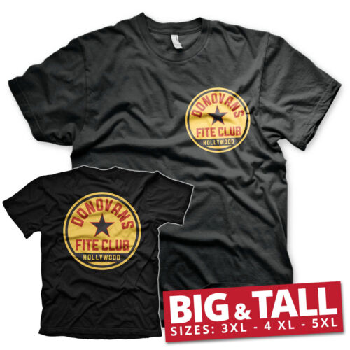 Officially Licensed Donovans Fite Club BIG /& TALL 3XL,4XL,5XL Men/'s T-Shirt